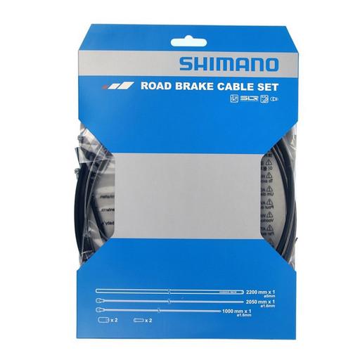 Трос+оплетка торм Shimano, шоссе, тр. 1000мм/2050мм нерж.