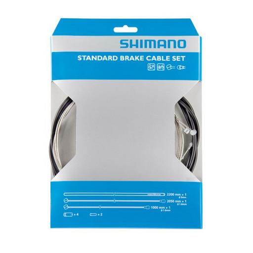 Трос+оплетка торм Shimano, MTB, тр:1.6х1000/2050мм стальн. , 5мм опл:2200мм