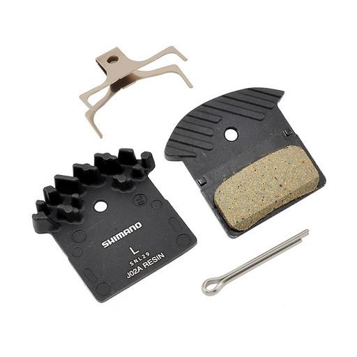 Торм. колодки Shimano, для диск т., J02A, пласт, с радиатором, пара, с пружин, с шплинтом