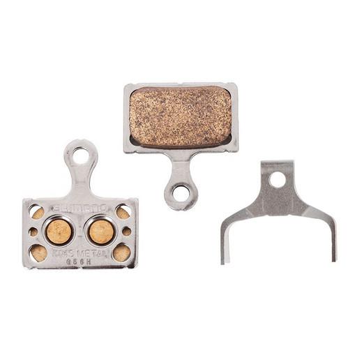 Торм. колодки Shimano, для диск т., K04S, металл, пара, с пружин, с шплинтом