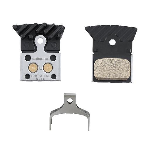 Торм. колодки Shimano, для диск т., L04C, металл, с радиатором, пара, с пружин, с шплинтом