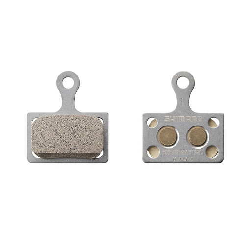 Торм. колодки Shimano, для диск т., K04Ti, метал, пара, с пружин,