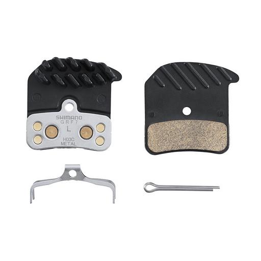 Торм. колодки Shimano, для диск т., H03C, метал, с радиатором, пара, с пружин, с шплинтом