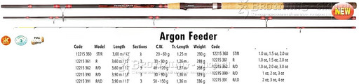 Удилище 3,60м Argon Feeder ST\R 60gr Browning NEW