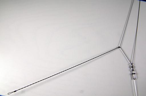 Монтаж фидерный, асимметричная петля, 50 см, с вертлюгом и застёжкой.