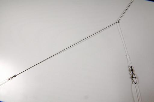 Монтаж фидерный, скользящий Патерностер, 50 см., стопорок, вертлюгом и застёжкой.