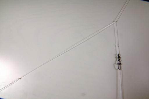 Монтаж фидерный, скользящий Патерностер, 50 см, стопорок, с вертлюгом и застёжкой