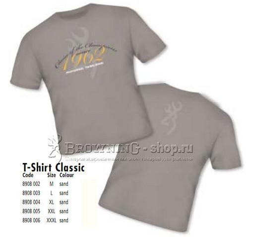 Футболка Т-Shirt Classic бежевая  L Browning NEW