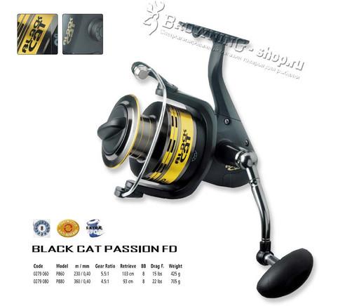 Катушка Black Cat Passion  FD 680 для сома 5;5:1 8 подшипников 690 гр