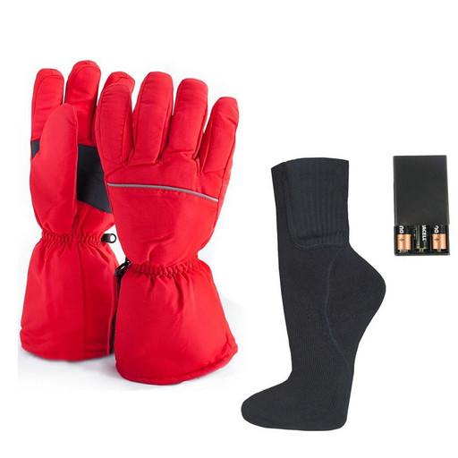 Комплект-подарок перчатки с подогревом RL-P-03 (AA) и носки RL-N-01 (AA)