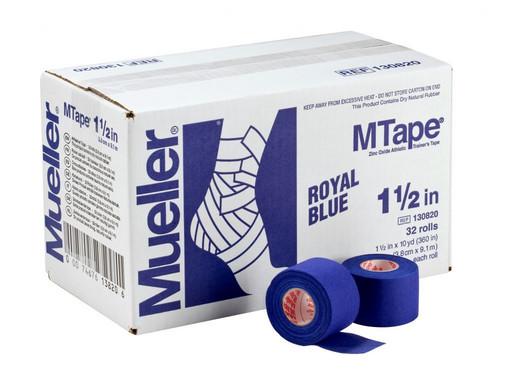 Тейп синий Mueller 130820 MTape Athletic Tape 3,8 см х 9,1 м (32 рулона)