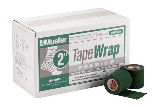 Тейп самозакрепляющийся зеленый Mueller 24858 TapeWrap Premium 5 см х 5,4 м (24рулона)
