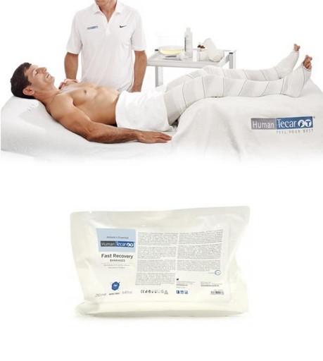 Бандажи для релаксации и восстановления после физических нагрузок Fast Recovery bandages HumanTecar 12см х 5м (2штуки)