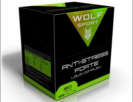 Специализированный комплекс биологически-активных веществ Wolf Sport ANTI-STRESS FORTE LIQUID COMPLEX (20 ампул по 25мл)