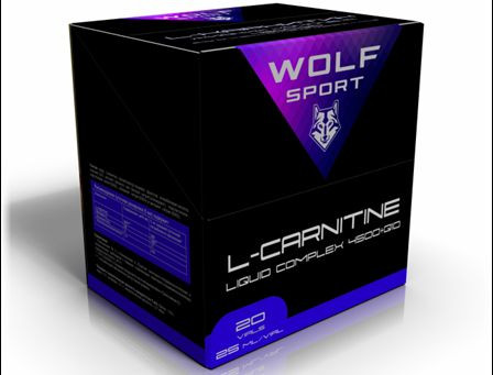Wolf Sport L-CARNITINE LIQUID COMPLEX 4500+Q10 20 ампул по 25 мл