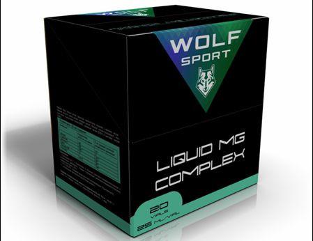 Специализированный магний-содержащий комплекс Wolf Sport LIQUID MG COMPLEX (20 ампул по 25мл)