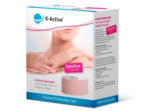 Тейп K-Active Tape Gentle светлорозовый 5 см х 5 м