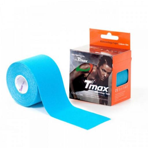 Тейп Tmax kinesiology tape 5см х 5м голубой