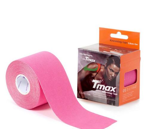 Тейп Tmax kinesiology tape 5см х 5м розовый