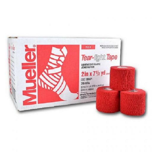 Тейп эластичный красный Mueller 130681 Tear Light Tape 5 см х 6,8 м (24 рулона)
