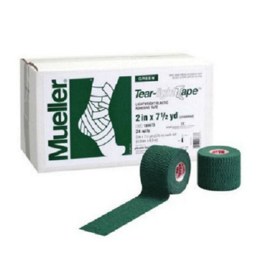 Тейп эластичный зеленый Mueller 130683 Tear Light Tape 5 см х 6,9 м(24 рулона)