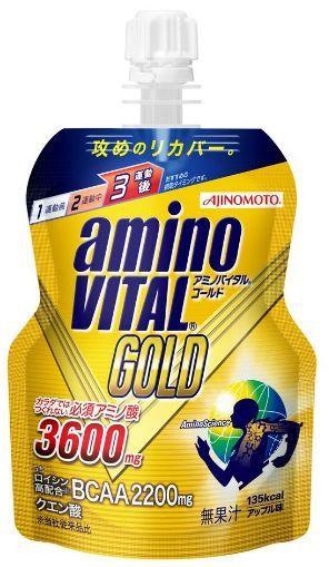 Аминокислоты Ajinomoto Аmino VITAL GOLD JELLY со вкусом яблока (135 г)