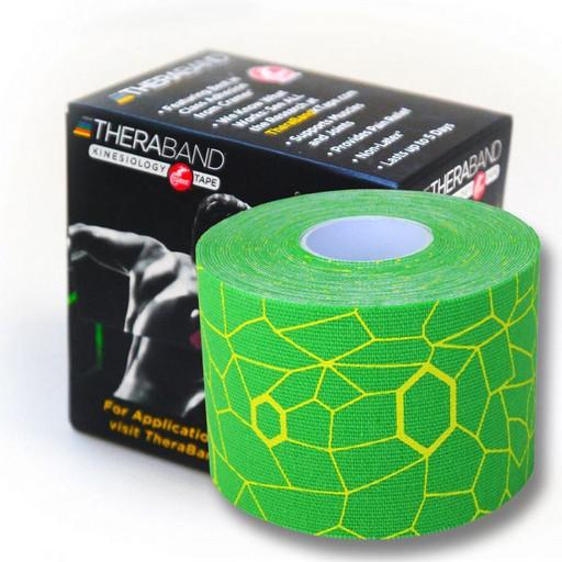 Тейп Thera Band Kinesiology Tape  5см*5м  зеленый/желтый