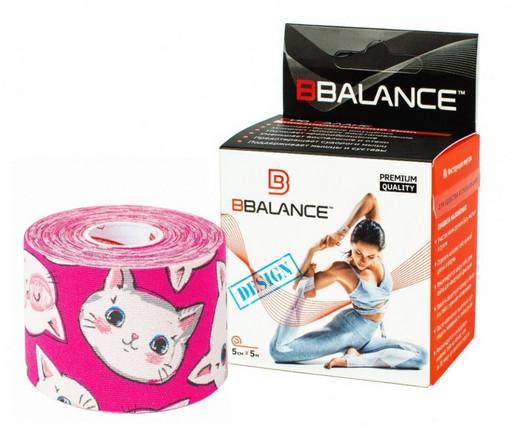 Тейп BBTape™ 5см × 5м котята розовый