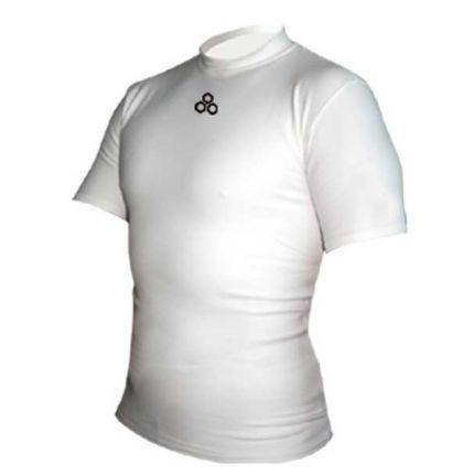 Термомайка белая McDavid 993T Thermal short sleeve mock neck shirt