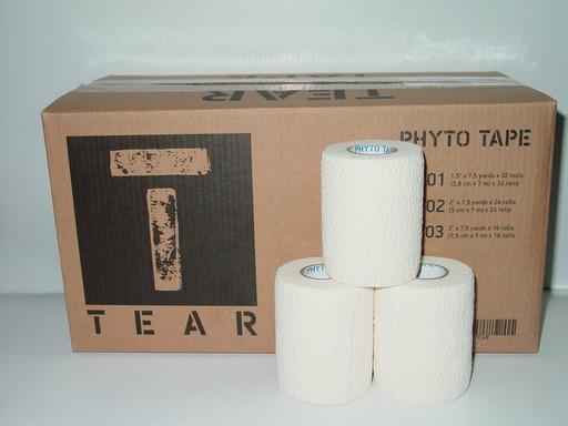 Тейп самозакрепляющийся Phyto tape 703 Tear tape 7,5см х 7 м (16 рулонов)