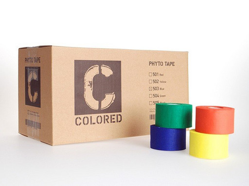 Тейп черный Phyto tape 1004 Colored tape Black 3,8 см х 13,7 м (32 рулона)