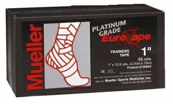 Тейп евротейп Mueller 130594 Eurotape Platinum 2,5 см х 10 м (48 рулонов)