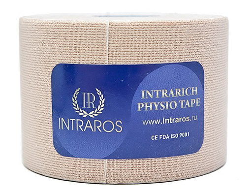 Тейп Intraros Intrarich Physio Tape бежевый 5 см х 5 м