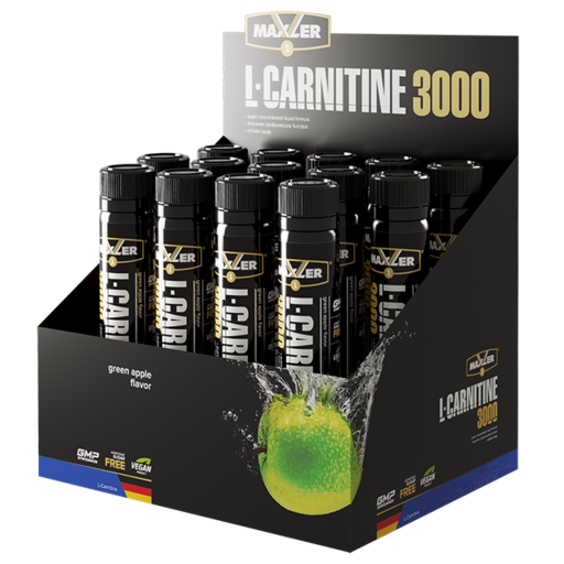Добавка Maxler L-Carnitine 3000 Shots (14 ампул * 25мл)