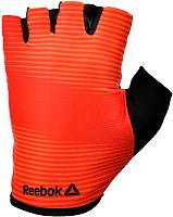 Тренировочные перчатки Reebok (без пальцев) красные размер S, Арт. RAGB-11234RD