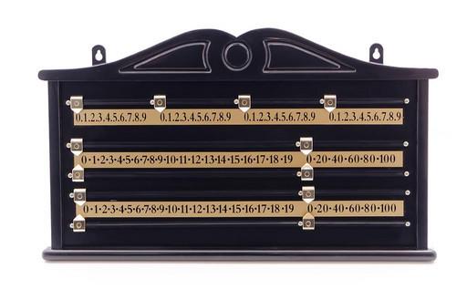 Доска счетная для снукера (черная, пластик)