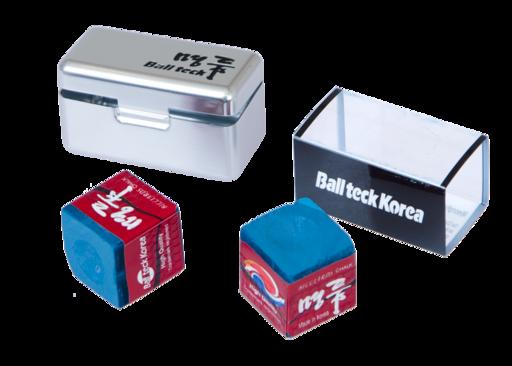Мел «Ball teck PRO II» (2 шт, в серебристой металлической коробке) синий