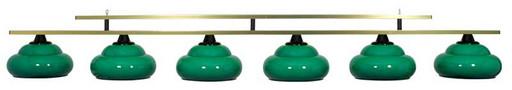 Лампа на 6 плафонов «Milano» (зеленая, люминесцентная)