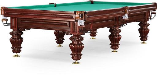 Бильярдный стол для русского бильярда «Turin» 9 ф (махагон, 6 ног, плита 38мм)
