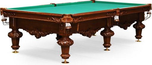 Бильярдный стол для русского бильярда «Rococo» 10 ф (орех пекан)