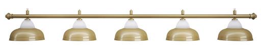Лампа на пять плафонов «Crown» (матово-бронзовая штанга, матово-бронзовый плафон D38см)