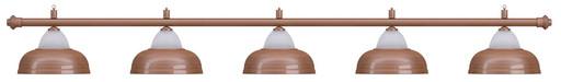Лампа на пять плафонов «Crown» (бронзовая штанга, бронзовый плафон D38см)