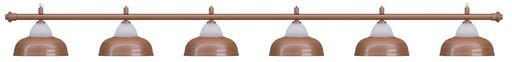 Лампа на шесть плафонов «Crown» (бронзовая штанга, бронзовый плафон D38см)