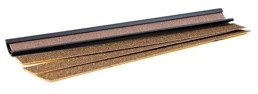 """Махровка- триммер 9"""" для наклейки, металлическая (черная)"""