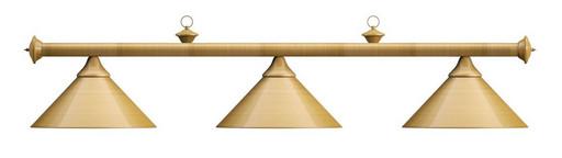 Лампа на три плафона «Elegance» (матово-бронзовая штанга, матово-бронзовый плафон D35см)