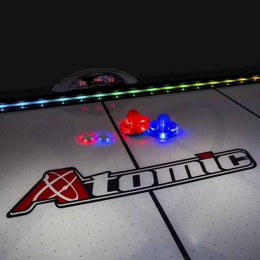 Шайба для аэрохоккея LED «Atomic Top Shelf» (прозрачная, красный светодиод) D76 mm
