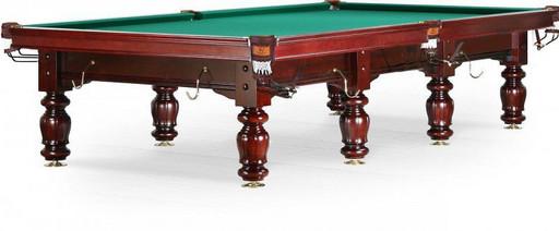 Бильярдный стол для русского бильярда «Classic II» 12 ф (массив ясеня, цвет махагон)