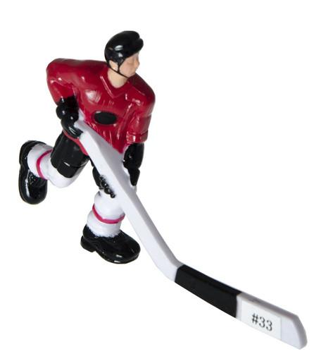 Хоккеист №33, короткая клюшка «Edmonton» (красный)