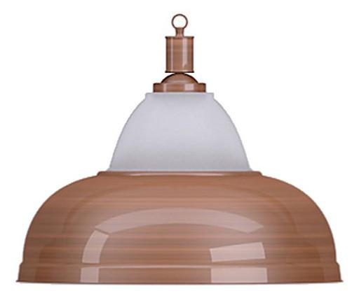 Лампа на один плафон «Crown» (бронзовая чашка, бронзовый плафон D38см)