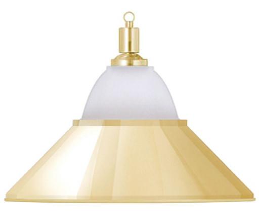 Лампа на один плафон «Jazz» (золотистая чашка, золотистый плафон D38см)